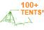 100+ Tents