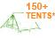 150+ Tents