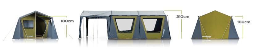 new concept 85b17 7b9fb Zempire Sheraton Canvas Tent - Bunyips Great Outdoors Centre