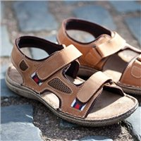 Chatham Flyflot Leather Walking Sandal
