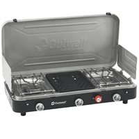 Outwell Chef Cooker 3-Burner Stove w/Grill