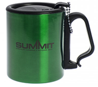 Summit  Stainless Steel Mug  with lid clip handle