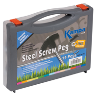 Kampa Steel Screw Peg 14 Pack
