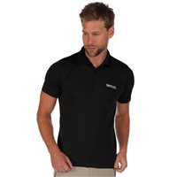 Regatta Maverik 3 Mens Polo Shirt Black