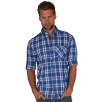 Regatta Brant Mens Check Shirt  Strong Blue