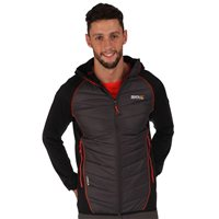 Regatta Andreson II Mens Hybrid  Jacket  Black Ash