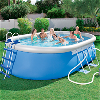 "Bestway 16' x 10' x 42"" Oval Steel Frame Pool Set"
