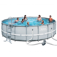 "Bestway 18' x 52""  Steel Frame Pool Set"