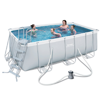 "Bestway 162"" x 79"" x 48"" Power Steel Frame Pool Set"