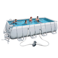 "Bestway 18' x 9' x 48"" Power Steel Frame Pool Set"