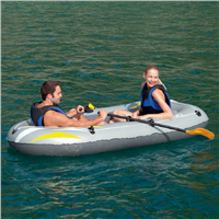 "Bestway 88"" x 43""  RX-4000 Grey Inflatable Boat Set"