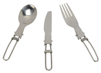 Go System 3 Piece SS Folding Cutlery Set