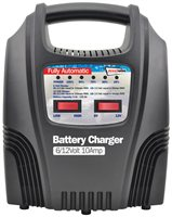 Streetwize 6 and 12V 10 Amp Fully Automatic LED Battery Charger