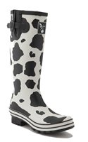 Evercreatures Tall Cow Print Wellies