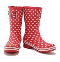 Evercreatures Funky Polka Dot Print Shortie Wellies