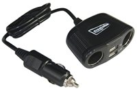 Streetwize 12/24V Twin Sockets with Twin USB Adaptors