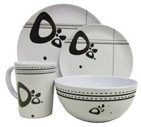 Streetwize 16pce Abstract Melamine Dinner Set
