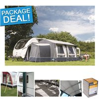 Kampa Classic Air 380 Expert Inflatable Caravan Awning  Package Deal 2018