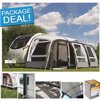 Kampa Rally Air Pro 390 PLUS Inflatable Caravan Awning Package Deal 2017 LEFT HAND