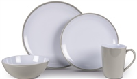 Kampa Seraph Grey Heritage Dinner Set 2019