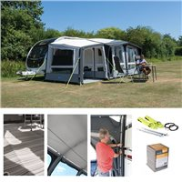 Kampa Dometic Club Air PRO 390 PLUS Caravan Awning Package Deal 2019 RIGHT