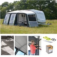 Kampa Rally AIR Pro 260 PLUS Caravan Awning Package Deal 2019 RIGHT
