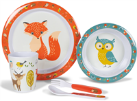Kampa Dometic Woodland Creatures Childrens Dinner Set 2019