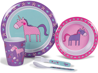 Kampa Unicorns Children's Dinner Set