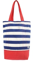 Yello Canvas Beach Bag  (Option: Navy Striped )