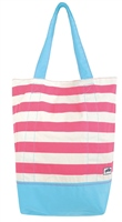 Yello Canvas Beach Bag  (Option: Pink Striped )