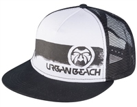 Urban Beach Black Trucker Flat Peak Cap