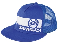 Urban Beach Blue Trucker Peak Cap
