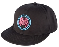 Urban Beach Black Flat Peak Snap Back