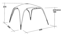 Outwell Summer Lounge Shelter 2020 (Option: Medium)