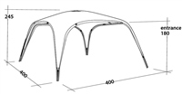Outwell Summer Lounge Shelter 2020 (Option: X Large)