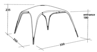 Outwell Summer Lounge Shelter 2020 (Option: Large)