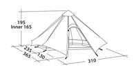 Robens Green Cone Tipi 4 Tent 2021