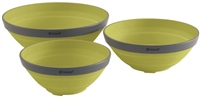 Outwell Collaps Lime Green Bowl Set