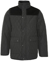 Champion Lewis Mens Quilted Jacket Black