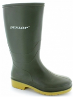 Dunlop Junior/Youths Green Wellies