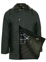 Champion Howick Mens Wax Padded Jacket Olive