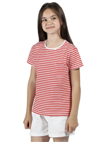 Regatta Ayan Kids T-shirt Fiery Coral Stripe 2020