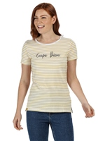 Regatta Olwyn Womens Striped T-Shirt Yellow Sulphur 2020