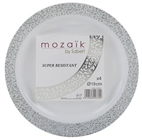 PMS 4 Pack Silver Plates 19cm
