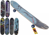 "PMS 31"" Retro Wooden Skateboard"