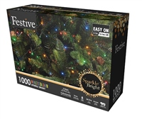 Festive 1000 Sparkle Multicolour Lights