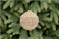 Festive Mercury Effect Geometric Glass Ball