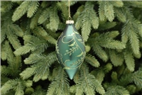 Festive Green With Glitter Glass Bauble