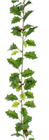 Festive Holly Leaf Garland With Berries