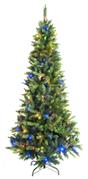 Festive Prelit Colour changing Slim Tree 210 cm
